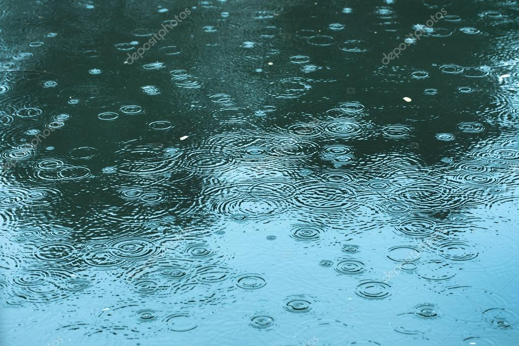 rain drops rippling