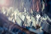 Mnoho Keychain hrozny ve stylu vintage efekt