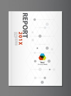 Modern Annual report Cover design vector, geometric or dna theme