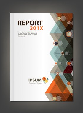 Modern Annual report Cover design vector, Multiply Triangle and