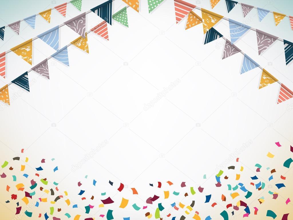 Картинки с конфетти и флажками, днем рождения двойняшкам