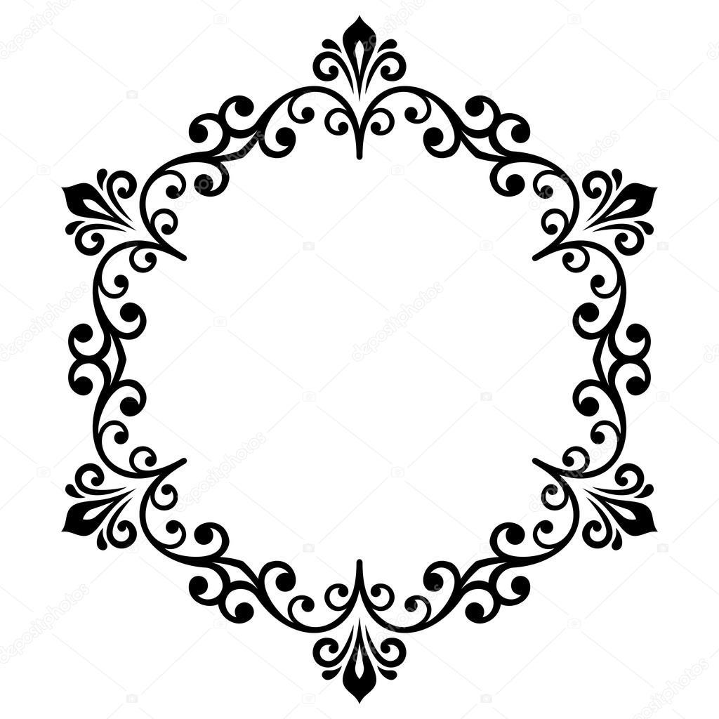 Moderne Vektor Floral Runde Rahmen — Stockvektor © turr1 #110858554