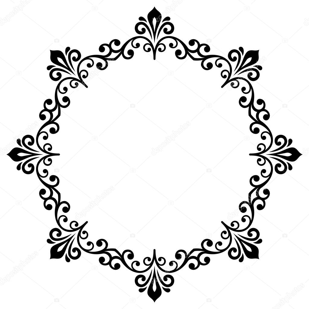 floral modern vector round frame stock vector turr1 119533478 rh depositphotos com vector frame clip art vector frame for indesign