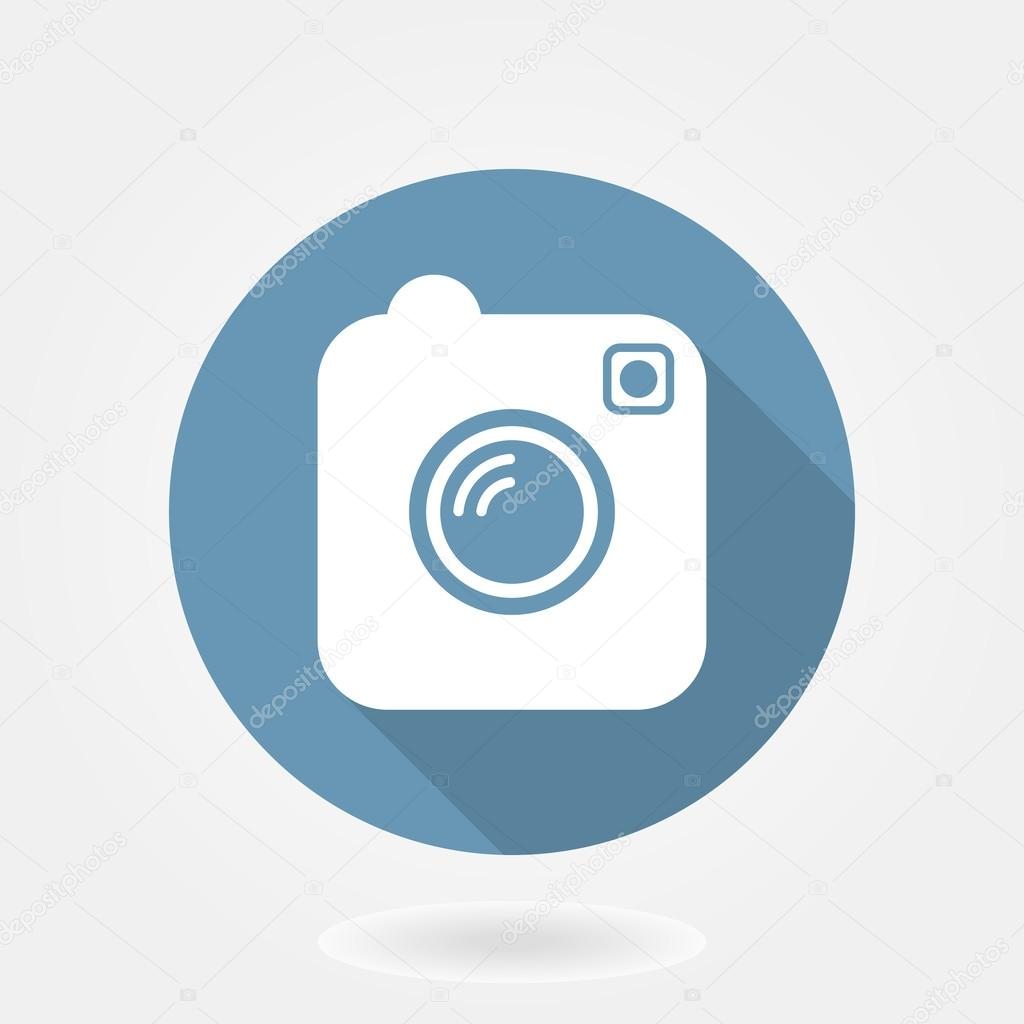 Vector Illustration Instagram: Camera Like Instagram Icon With Flat Design