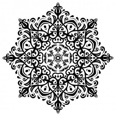 Damask Vector Pattern. Orient Background