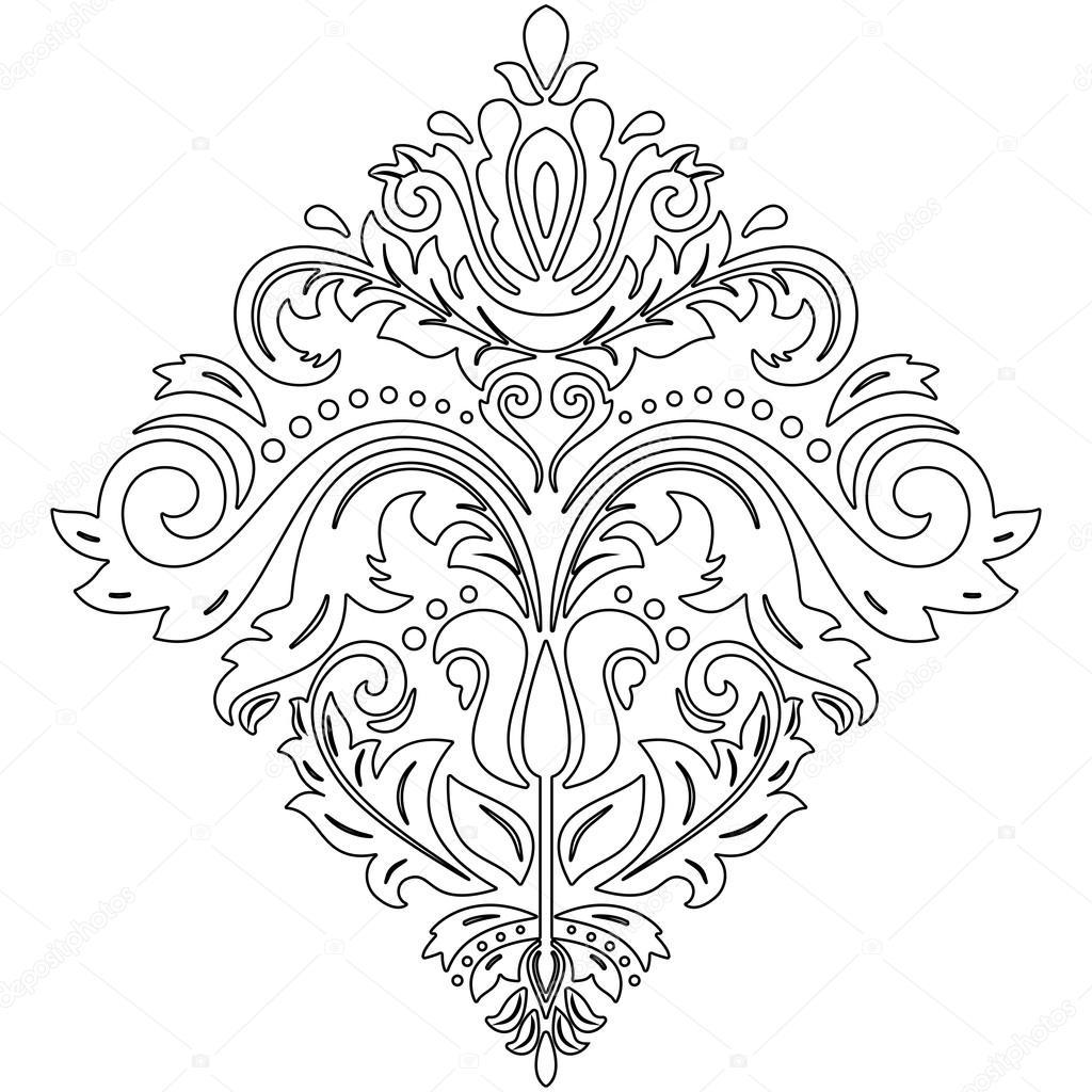 vetor abstrato oriental padr o vetor de stock turr1 82935994. Black Bedroom Furniture Sets. Home Design Ideas