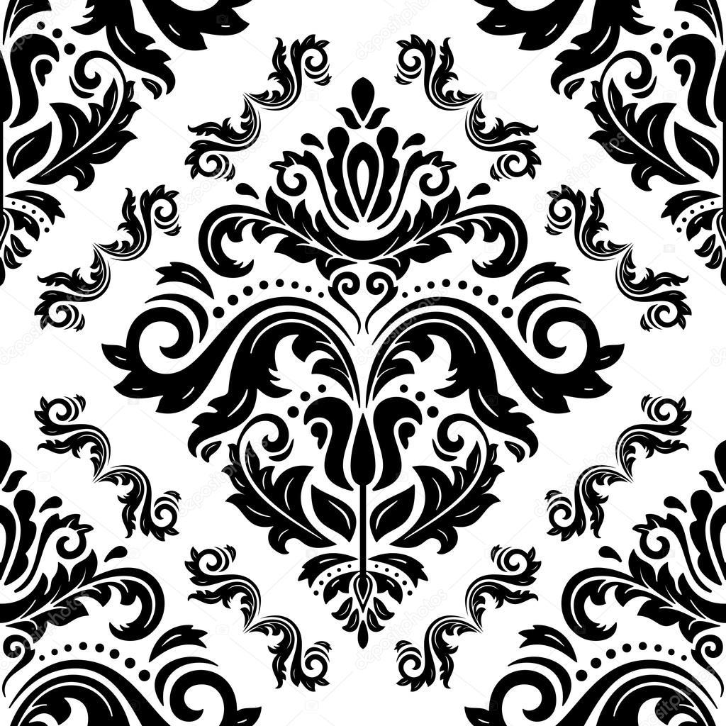 Vectorielle Continue Papier Peint Dans Le Style Du Baroque Image