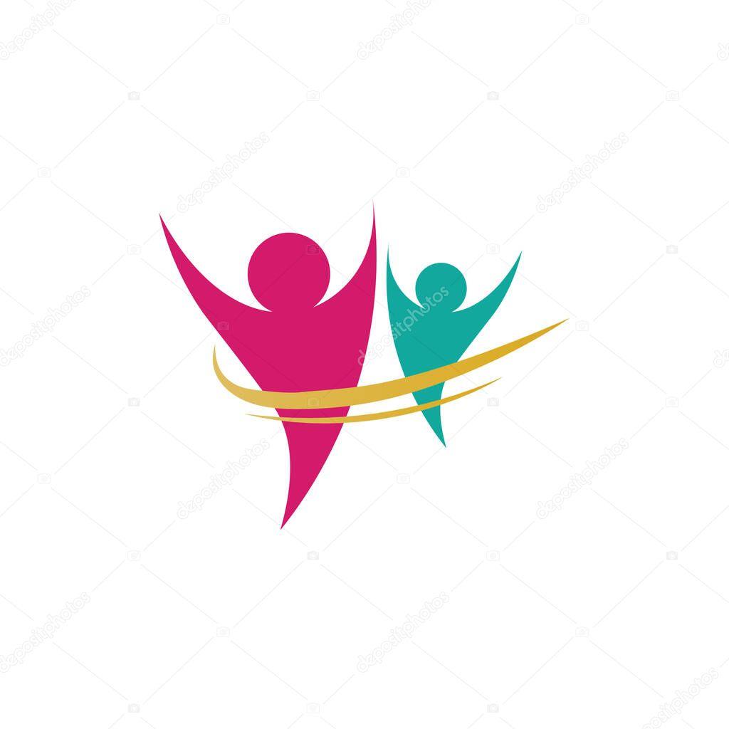 Community people care logo and symbols templat icon