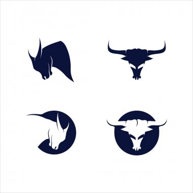 Bull horn and buffalo logo and symbols template icons app icon