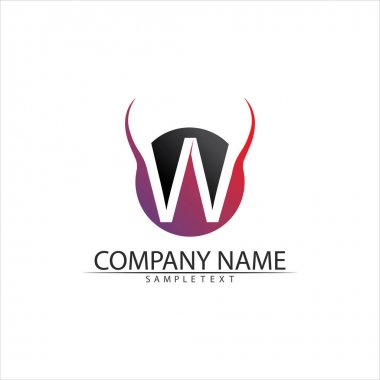 W Letter Logo Template vector illustration design icon