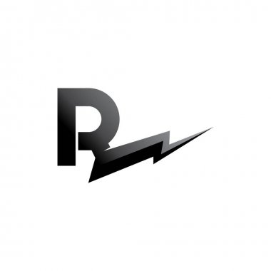 R letter logo and vector  icon design template element icon