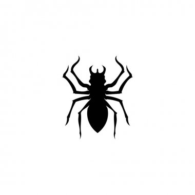 Spider vector and insect animal design logo icon