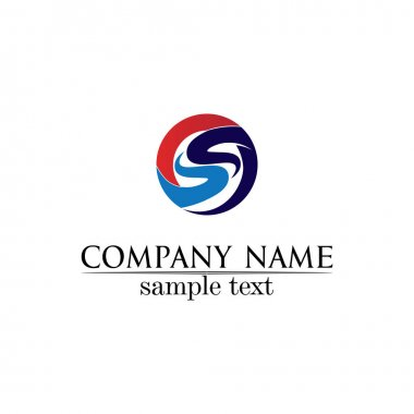 Business corporate letter S logo design vector icon