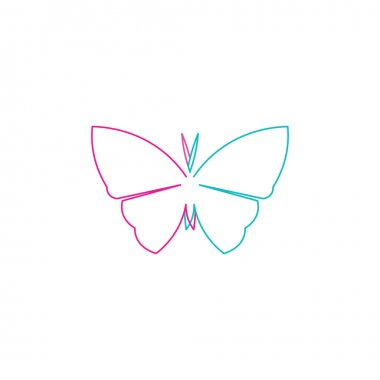 Vector Butterfly conceptual simple colorful icon Logo Vector Animal icon