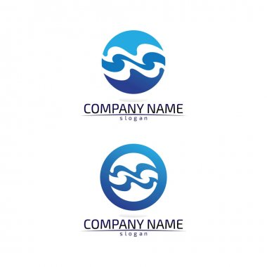 Waves beach logo and symbols template icons ap icon