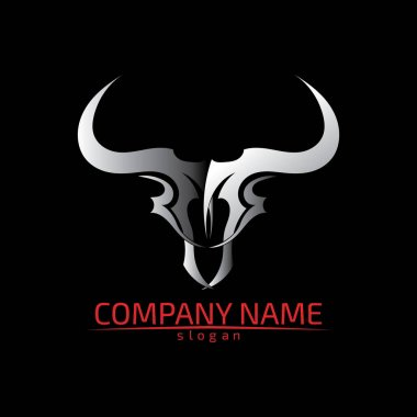 Bull horn logo and symbols template icons app icon