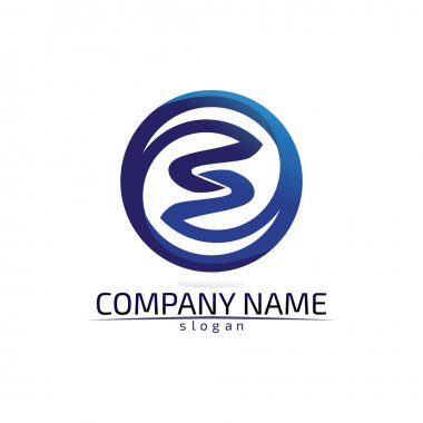 Business corporate letter S logo design vector icon