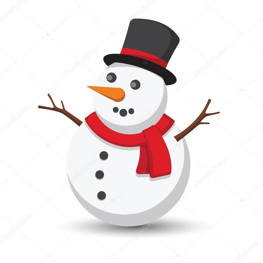 snowman cartoon vector stock vector 10comeback 115697852 rh depositphotos com vector snowflake patterns vector snowmobile helmet