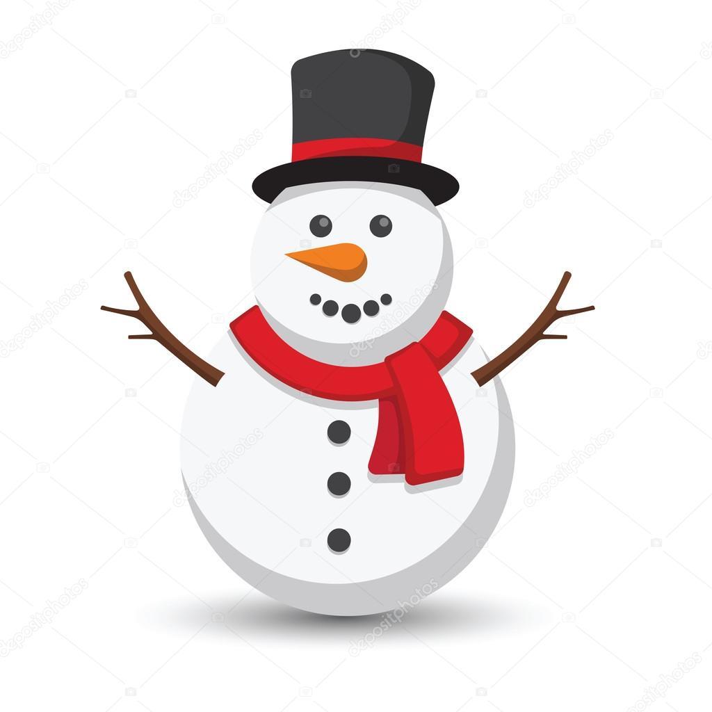 Snowman Cartoon Vector Stock Vector C 10comeback 115698212