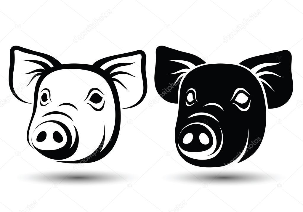 Vector de cara cerdo — Archivo Imágenes Vectoriales © 10comeback ...