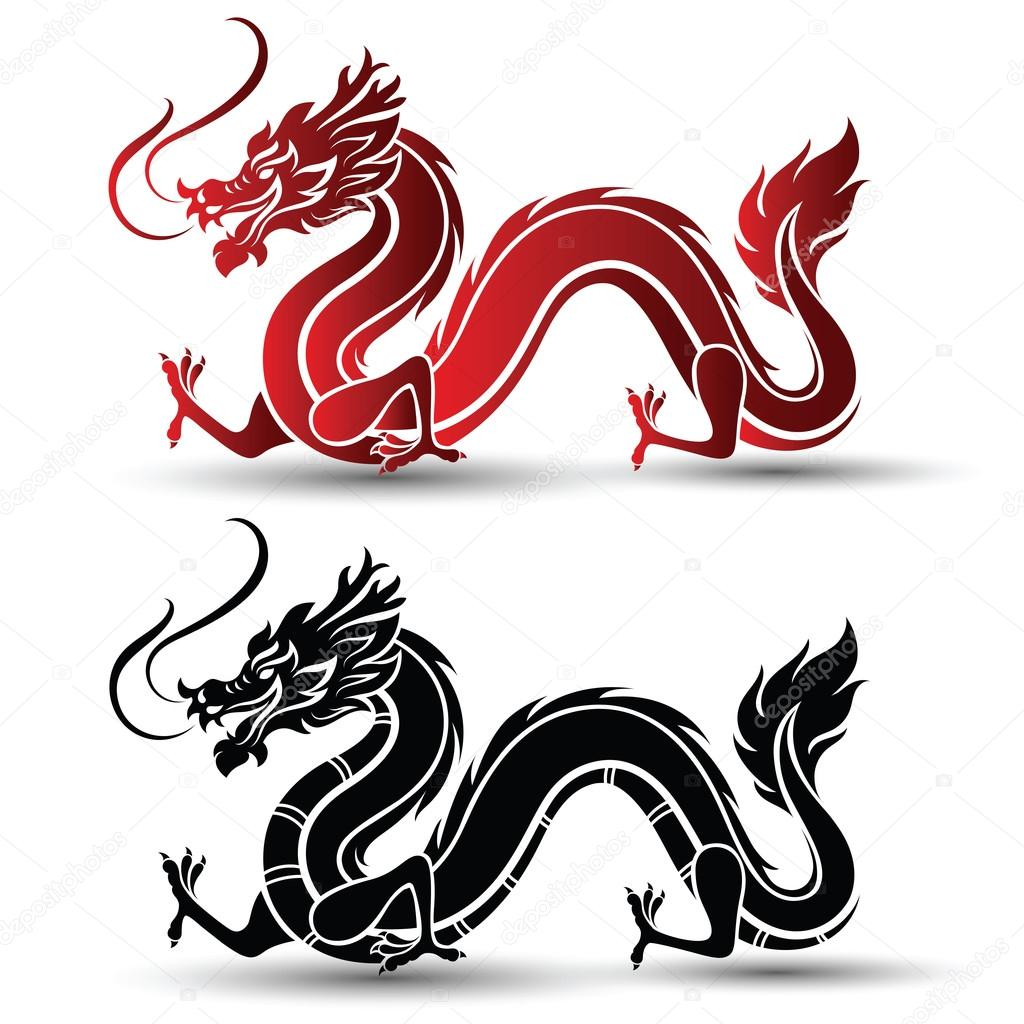 chinese dragon vector stock vector 10comeback 117463124 rh depositphotos com dragon vector image dragon vectoriel free