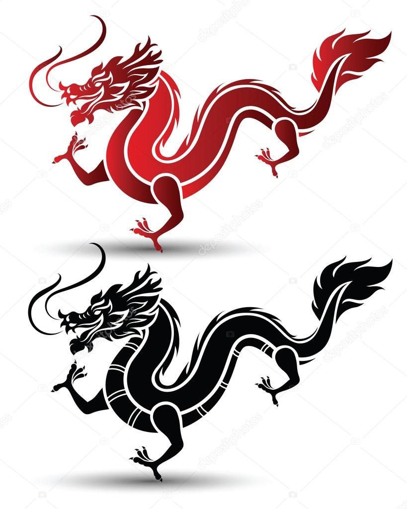 chinese dragon vector stock vector 10comeback 118225460 rh depositphotos com dragon vector free dragon vector hacked
