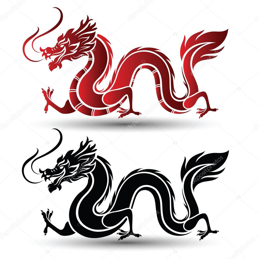 chinese dragon vector stock vector 10comeback 124602446 rh depositphotos com chinese dragon vector art chinese dragon vector free