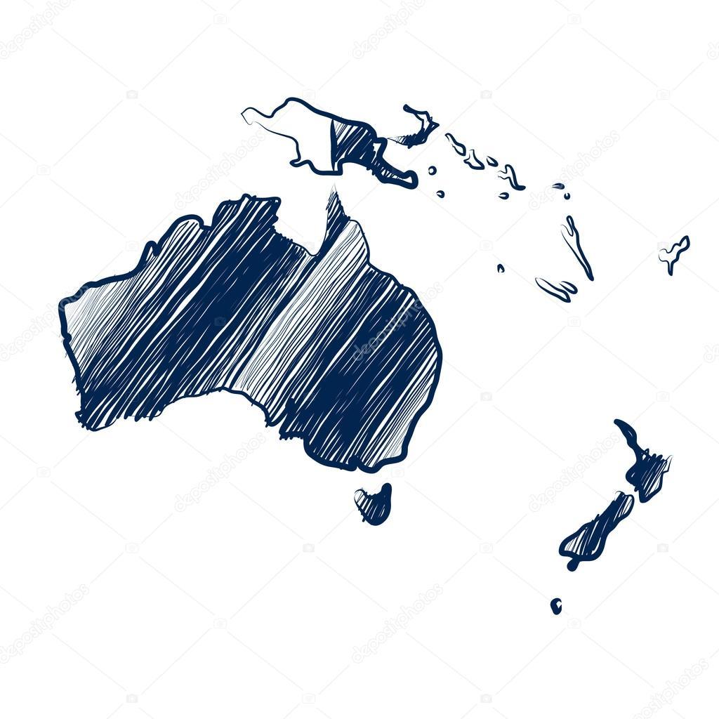 Australia continent map — Stock Vector © 10comeback #99967148