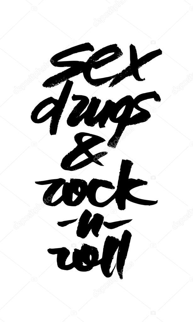 Надпись секс наркотики рок н рол