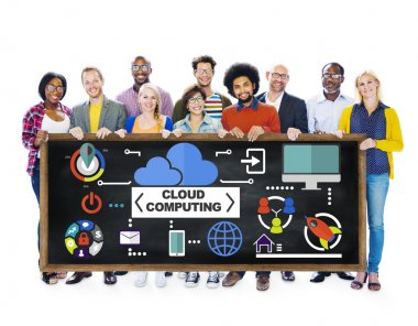 People Togetherness Cloud Computing Concept