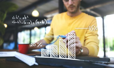 Man Analysing Solving Mathematics