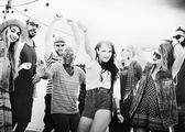 Fényképek Tinédzser meg a Beach Party koncepció
