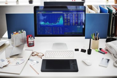 workplace with Stock Market