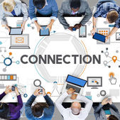Connessione Online Networking Link collegato concetto
