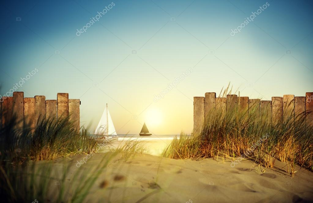 SailBoat Sailing and Fence Concept