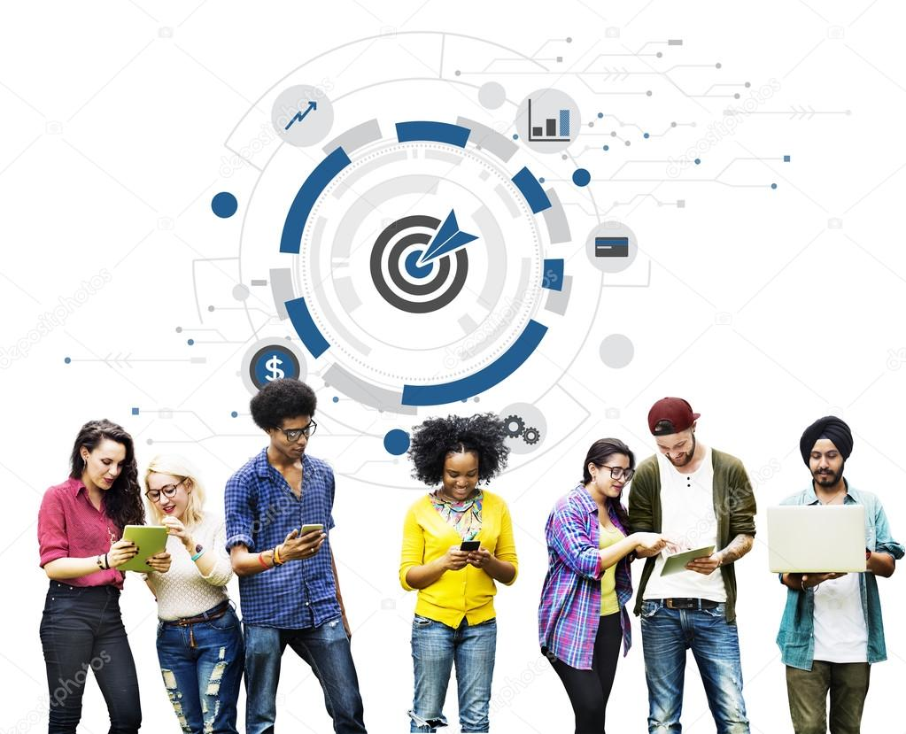 Students using digital devices, surfing the internet