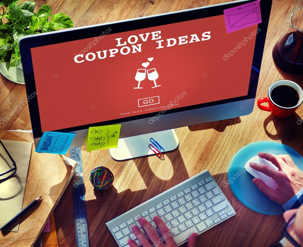 Man Looking For Love Coupon Ideas — Stock Photo © Rawpixel #104270056