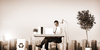 Businessman working Concept