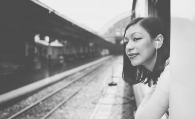 portrait of Asian  woman Travelling