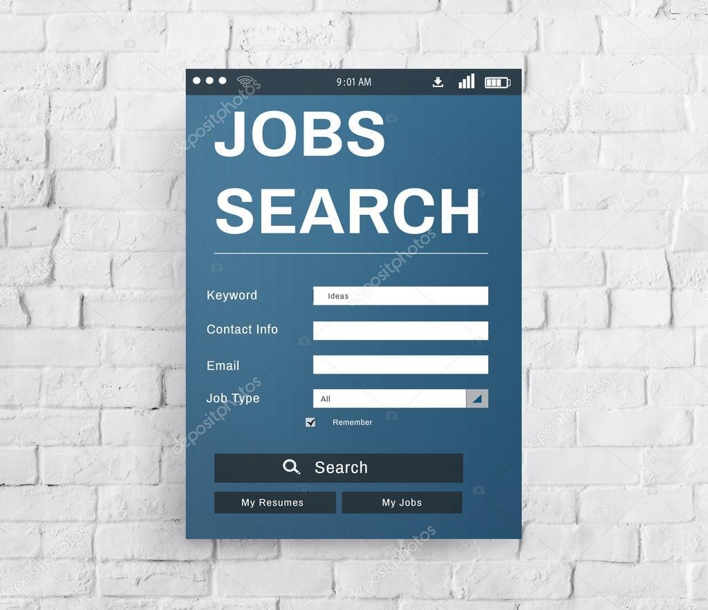 5b9f986fd0 Έννοια καριέρα αναζήτηση θέσεων εργασίας — Φωτογραφία Αρχείου ...