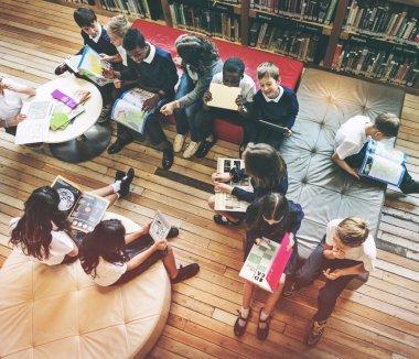 diversity group of children in school