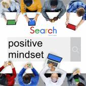 Positive Einstellung Fokus Konzept