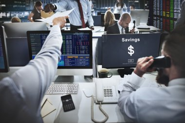 business people working and saving