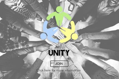 people holding hands together and Unity Concept