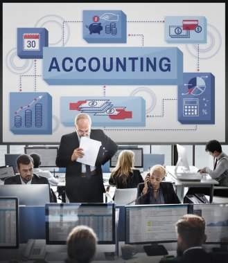 Business workers and accounting