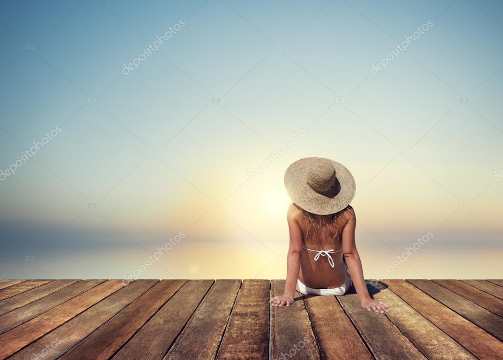 beautiful woman at vacation