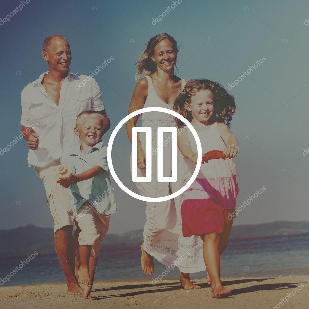 happy parents with children