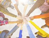 Gruppe von Menschen und Teamwork Konzept