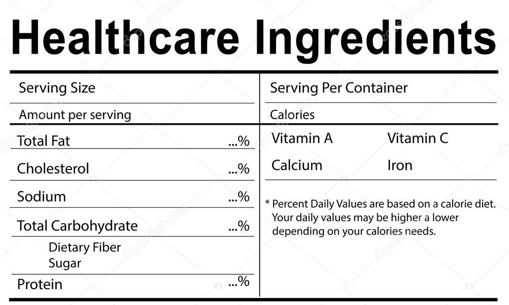 Vorlage mit Gesundheitswesen Speisekarte Konzept — Stockfoto ...