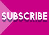 Subscribe, Social Media Concept